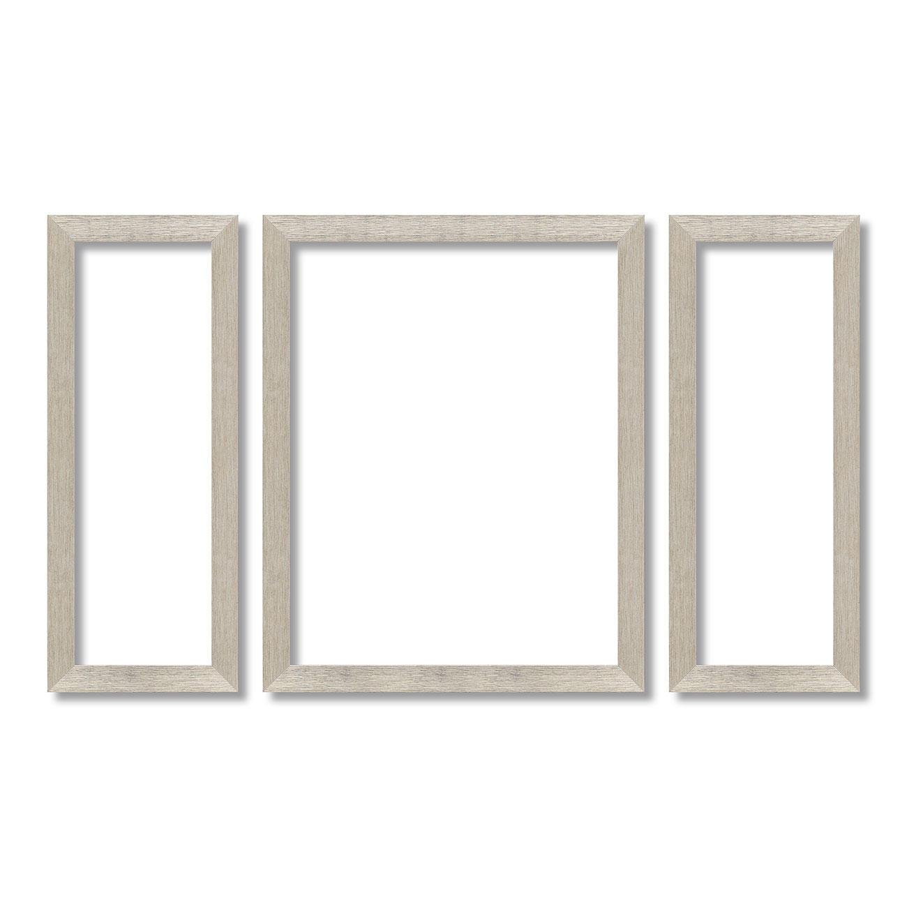 Rahmen für Triptychon 2x 20 x 50 cm und 1x 40 x 50 cm
