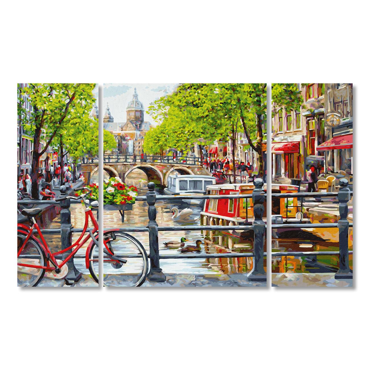 Malen Nach Zahlen Triptychon Amsterdam