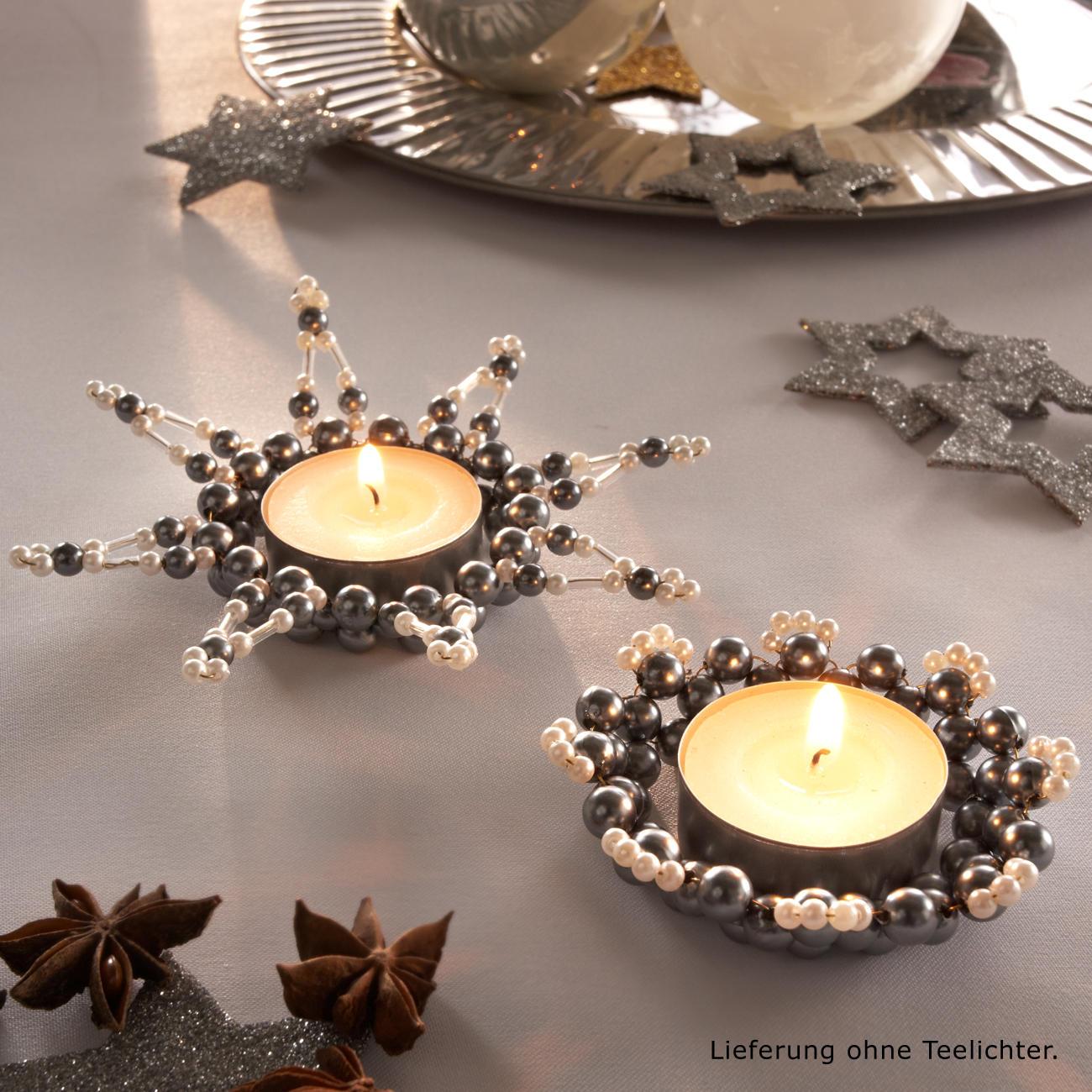 komplettpackung 8 teelichthalter im set weihnachtsschmuck weihnachtliches basteln. Black Bedroom Furniture Sets. Home Design Ideas