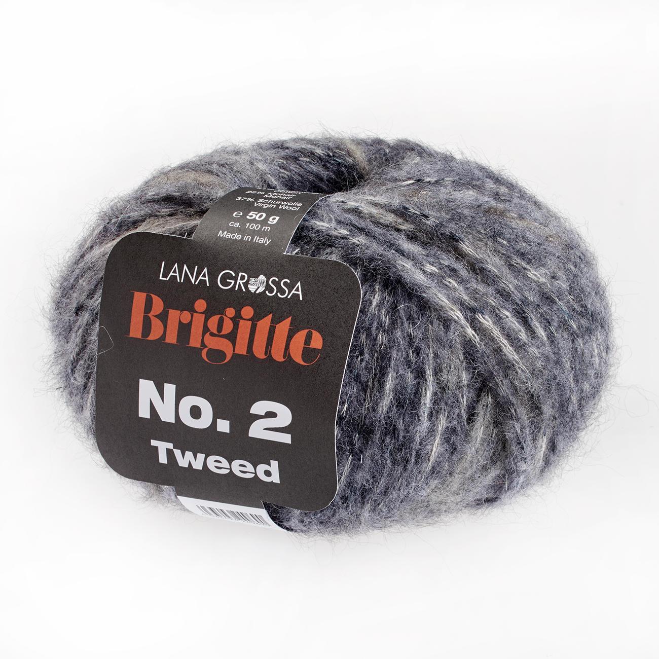 2 Tweed Lana Grossa Brigitte No Fb Wolle Kreativ 105 marine//violett 50 g