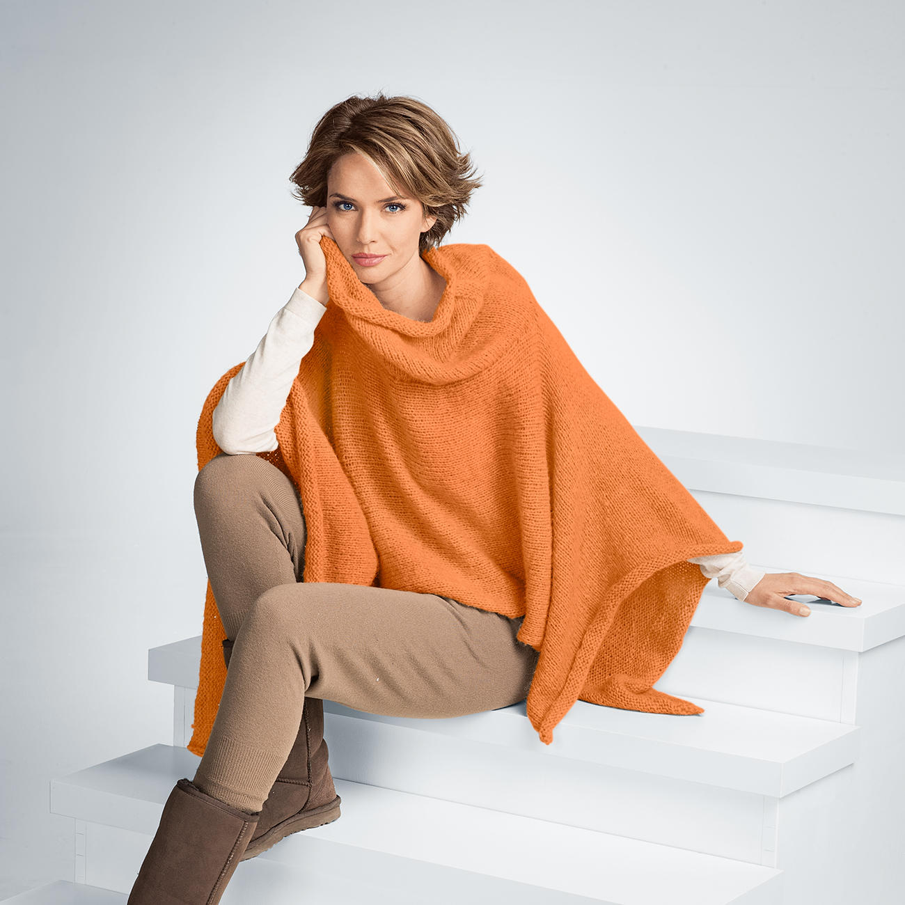 Ponchos boleros strickmodelle junghans wolle - Junghanns wolle ...