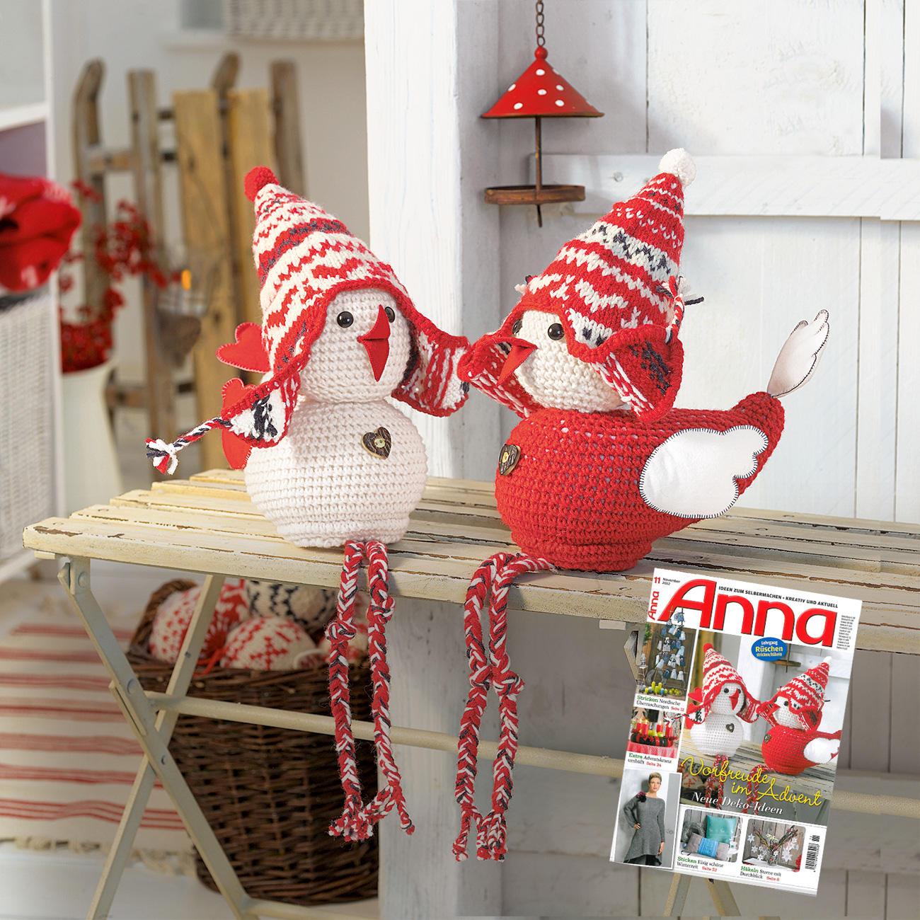anleitung 822 4 2 weihnachtsspatzen aus landwolle von. Black Bedroom Furniture Sets. Home Design Ideas