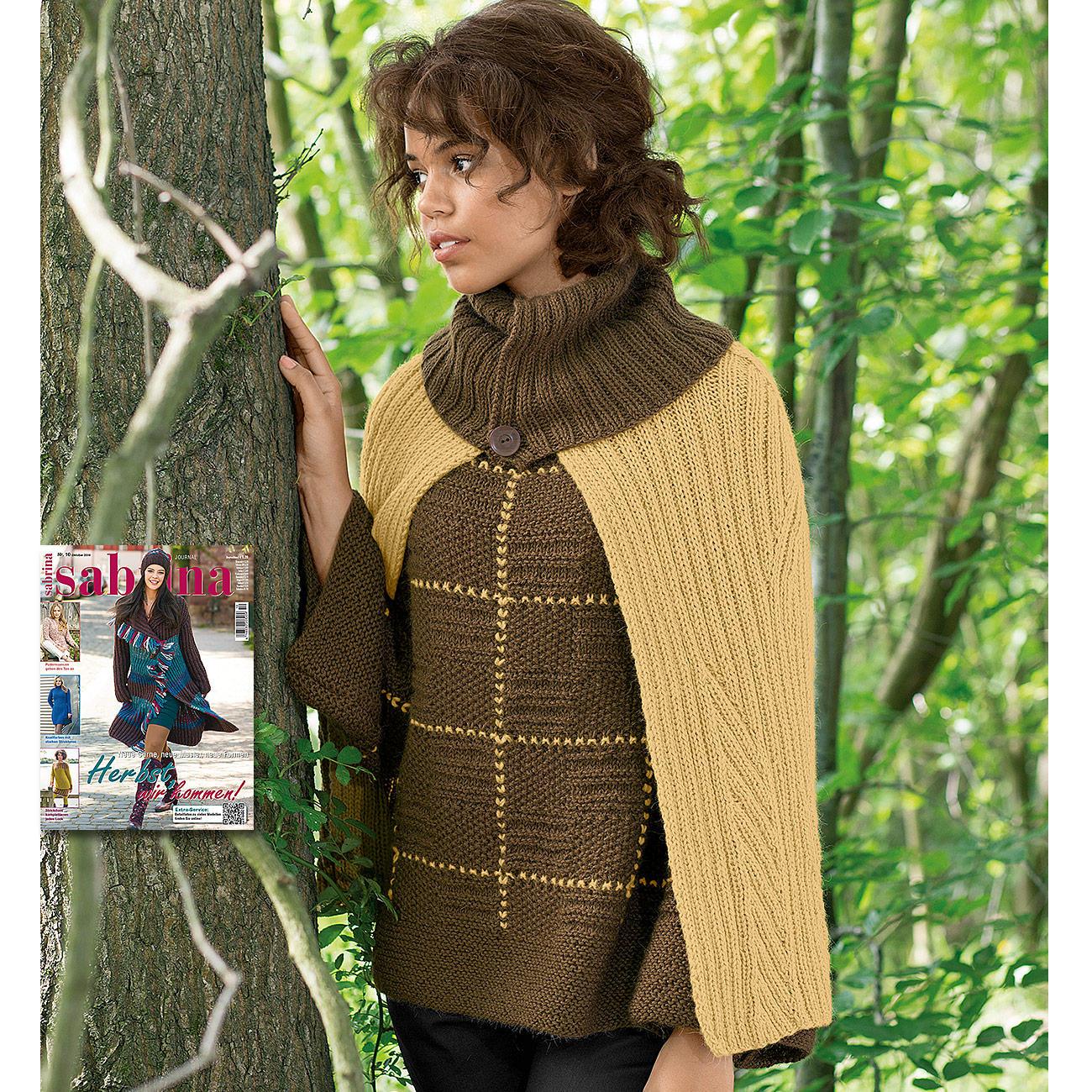 modell 035 5 pullover mit cape aus peru von junghans wolle 2 versch farben. Black Bedroom Furniture Sets. Home Design Ideas