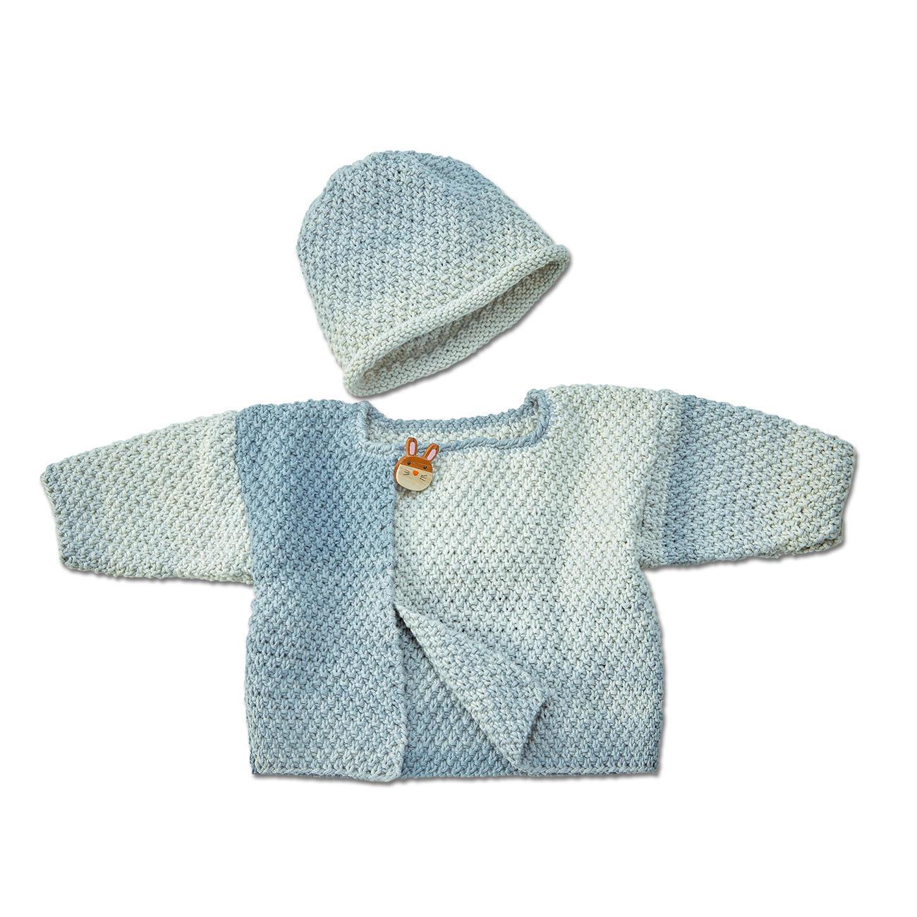 Anleitung 0986, Baby Jacke und Mütze aus Pinta von Junghans Wolle