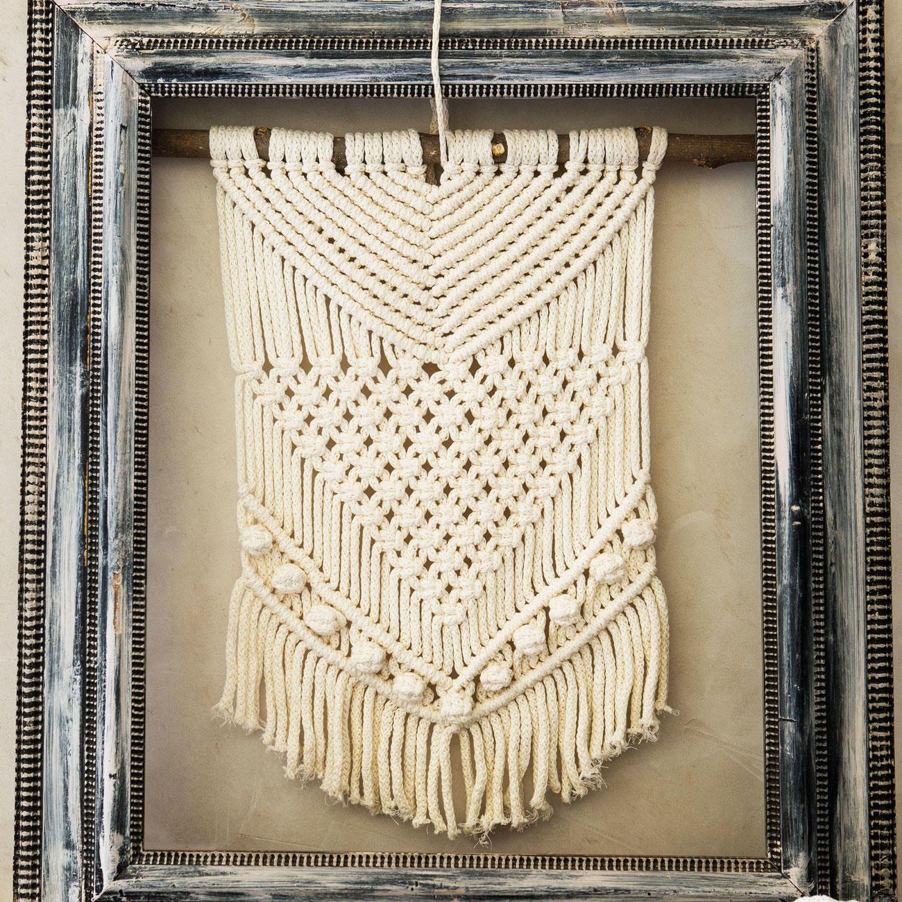 Wandbehang Nähen Anleitung.Anleitung 104 9 Makramee Wandbehang Aus Scuby Cotton Von Katia 1