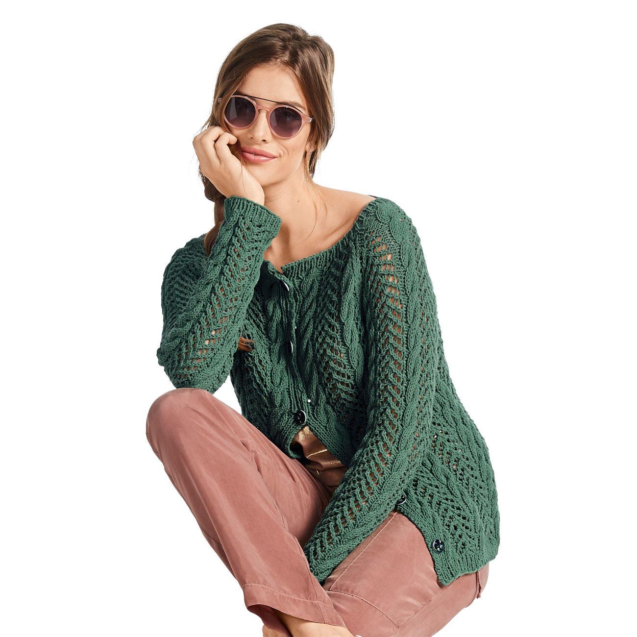 Anleitung 0010, Jacke aus Ribolli von Junghans Wolle