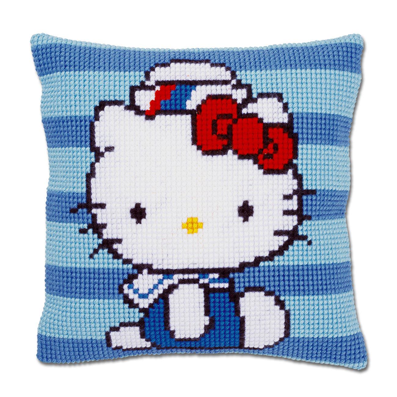 stickkissen hello kitty matrose. Black Bedroom Furniture Sets. Home Design Ideas