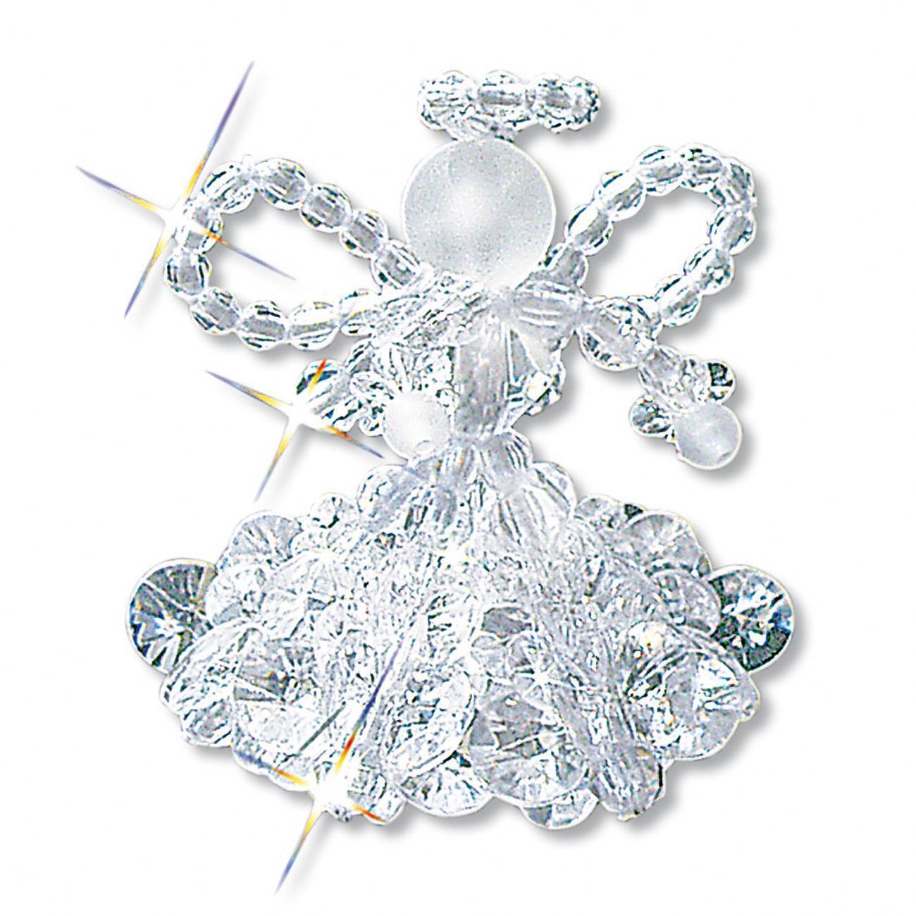 6 kristallengel im set 5 cm glamour ser perlen weihnachtsschmuck als komplettpackungen zum. Black Bedroom Furniture Sets. Home Design Ideas