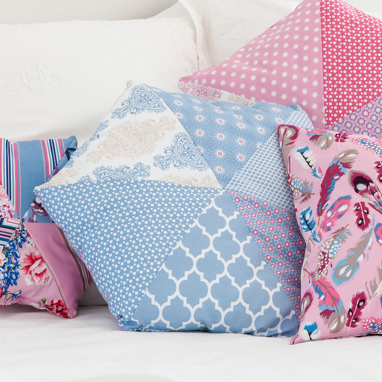 n h idee hexagon kissen blau. Black Bedroom Furniture Sets. Home Design Ideas