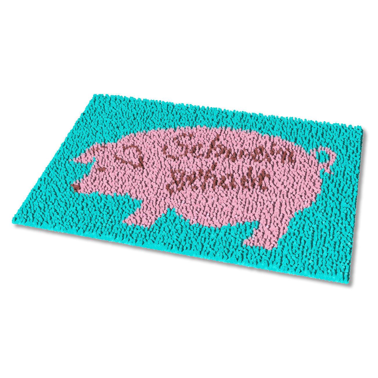 Fußmatte Schwein Gehabt