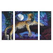 Malen nach Zahlen - Triptychon Jäger in der Nacht Malen nach Zahlen.
