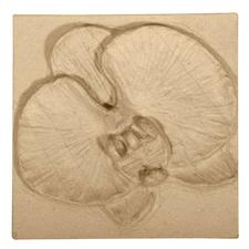 """Relief-Bild aus Pappmaché """"Orchidee"""""""