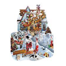 """Puzzle """"Weihnachtshaus"""" Ein Spaß für die ganze Familie – spannend und entspannend zugleich."""