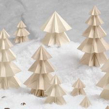 """Bastel-Set """"Schneetannen"""" Zauberhafte Papierdekorationen"""