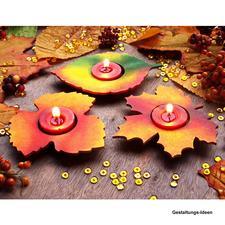 Herbstliche Teelichthalter aus MDF Herbstliche Bastelideen.