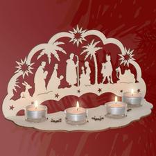 """Stimmungsvolle Dekorationen aus Holz """"Lichterbogen Christi Geburt"""" Stimmungsvolle Dekorationen aus Holz"""