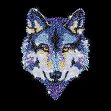 """Paillettenbild für Erwachsene """"Wolf"""" Paillettenbilder mit eindrucksvollen Motiven"""