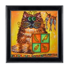 """Bead-Art-Bild """"Katzenjammer"""" Bead Art – Bilder mit edlem Perlen-Effekt."""