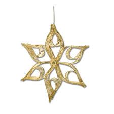 2er-Set Sterne Bangkok, Gold Weihnachtliche Dekorationen aus aktuellen Trendbändern.