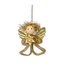 4er-Set Engelchen, Gold Weihnachtliche Dekorationen aus aktuellen Trendbändern.