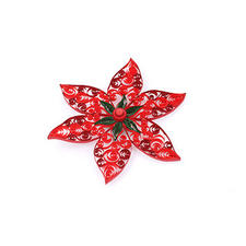 """Quilling Weihnachtsdekoration """"Weihnachtsblumen"""" Quilling - Zauberhafte Weihnachtsdekorationen aus dünnen Papiersteifen"""