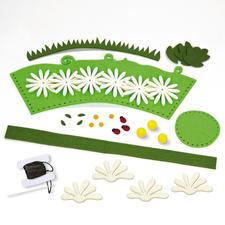 Packungs-Inhalt, Filz-Körbchen mit Blüten
