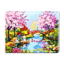 """Malen nach Zahlen """"Japanischer Garten"""" Malen nach Zahlen auf Keilrahmen."""