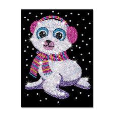 """Paillettenbild für Kinder """"Seehund Suzy"""" Glitzernde Paillettenbilder – ganz einfach gesteckt"""