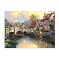 Puzzle - Bei der alten Brücke Puzzles nach Kunstwerken von Thomas Kinkade