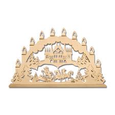 """Stimmungsvolle Dekorationen aus Holz """"Lichterbogen Weihnachtsschlitten"""" Stimmungsvolle Dekorationen aus Holz"""