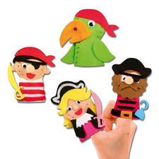 """Fingerpuppen """"Abenteuer"""" FILZEN – der beliebte Bastelspaß für Erwachsene und Kinder."""