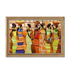 """Bead-Art-Bild """"African Beauties"""" Bead Art – Bilder mit edlem Perlen-Effekt."""