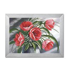 Bead-Art-Bild - Bouquet Bead Art – Bilder mit edlem Perlen-Effekt.