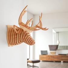 3D-Wandekoration - Hirsch 3D-Wandekorationen