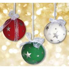 """Stimmungsvolle Weihnachtskugeln """"Sternenzauber"""""""