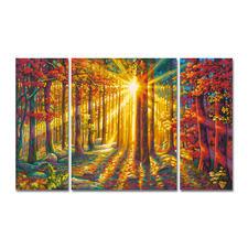"""Malen nach Zahlen """"Triptychon Herbstwald"""" Malen nach Zahlen"""