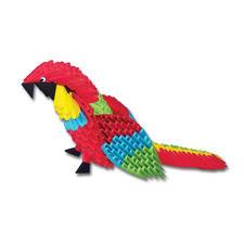"Modulares Origami ""Papagei"""
