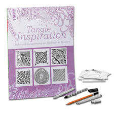 "Buch - Tangle Inspiration Buch ""Tangle Inspiration"" inklusive Stifte und Kärtchen im Set"