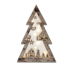 Weihnachtsbaum mit Hologrammfolie und LEDs