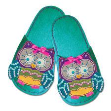 """Pantoffeln """"Eule"""" aus Filz Filzen – der beliebte Bastelspaß für Erwachsene und Kinder."""