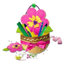 """Hänge-Utensilo """"Blume"""" aus Filz Filzen – der beliebte Bastelspaß für Erwachsene und Kinder"""