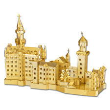 """3D-Miniaturen """"Schloss Neuschwanstein"""" Hochwertige Edelstahl – Miniaturen in 3D. Jetzt auch in Gold und Silber."""
