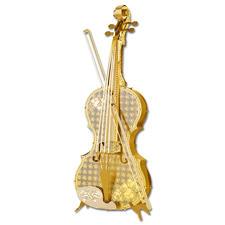 """3D-Miniaturen """"Violine"""" Hochwertige Edelstahl – Miniaturen in 3D. Jetzt auch in Gold und Silber."""