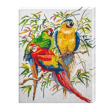 """Diamond Painting auf Keilrahmen """"Papageien"""" Diamond Painting auf Keilrahmen."""