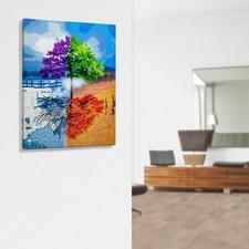 """Diamond Painting auf Keilrahmen """"Baum vier Jahreszeiten"""" Diamond Painting auf Keilrahmen."""