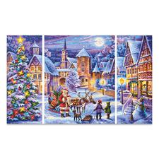 """Triptychon """"Weiße Weihnacht"""" Malen nach Zahlen """"Triptychon Weiße Weihnacht"""""""