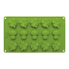 Pilze & Kleeblätter klein, für 15 Stück. Größe Ø 4,5 – 5 cm
