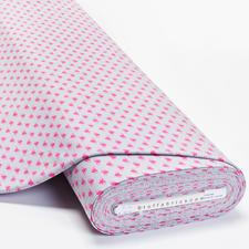 """Meterware Baumwoll-Jersey """"Herzen"""" Baumwoll-Jersey – Der ideale Stoff für bequeme Shirts, Kleider und Kindermode."""