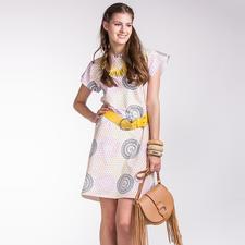 "Kleid Laisa ""Näh-Idee mit dem Stoff Baumwoll-Jersey ""Rauten-Mandala"""""