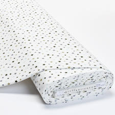Meterware Baumwoll-Jersey - Sterne, Weiß